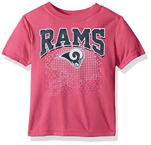 (NFL Los Angeles Rams Female Short sleeve Team Logo Tee, Pink,)