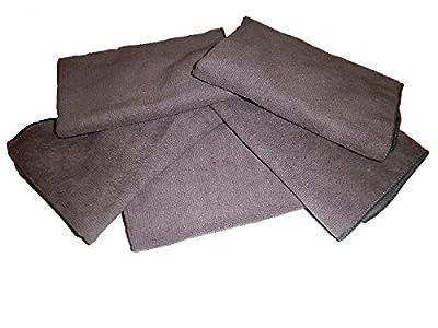 "5-pack of Grey All Purpose Microfiber Towels 16"" X 16""- 300 GSM Professional Towels."