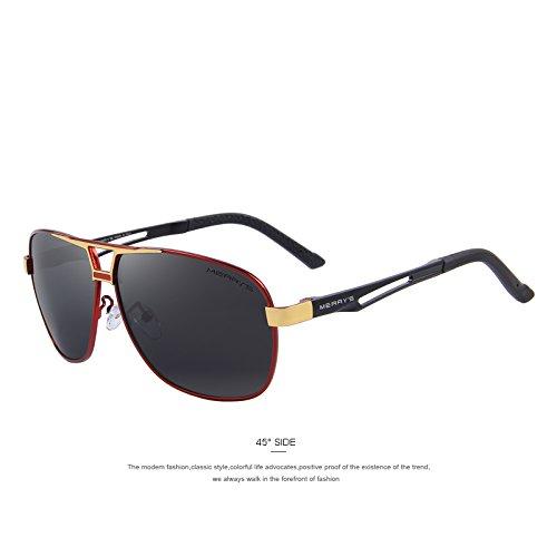 C04 HD conducción gafas C03 hombres TIANLIANG04 Red clásico rectángulo polarizadas gafas polarizadas de Gold de Gafas aluminio 0HqZT
