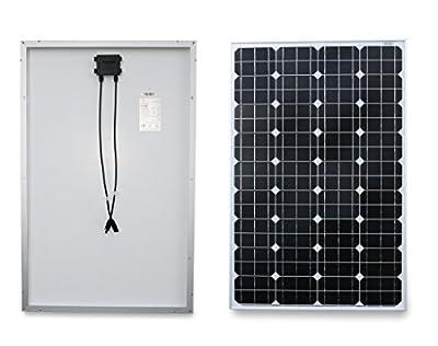 PowerHunt 100w Mono Solar Panel for 12v/24v/48v Charging