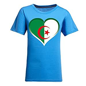 Brasil 2014 FIFA World Cup Theme Short Sleeve T-shirt,Football Background Womens Cotton shirts for Fans Blue by runtopwell