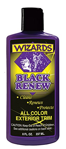 Wizards Exterior Detailing Tools - Cleaners, applicators, Tools. (Black Renew for Trim)