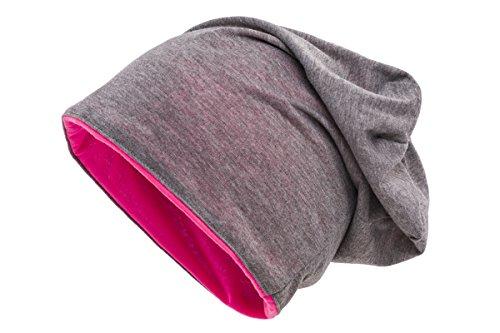 Gris Gorro colores rosa reversible Shenky bicolor Disponible en varios S4xTqB