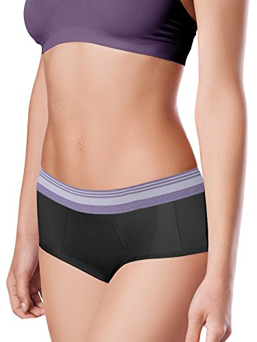 Intimate Portal Women Period Panties Incontinence Underwear Leak Proof Menstrual Brief 3-Pk Black...