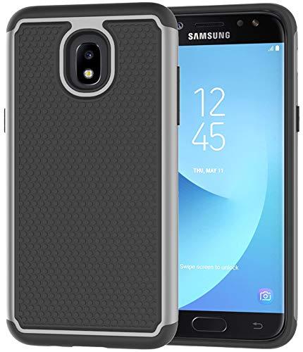 Galaxy J7 2018 Case,Galaxy J7 Refine Case,Galaxy J7 Star Case,Galaxy J7 Crown Case,Galaxy J7 V 2nd Gen Case,J7 Aura Case,Asmart Defender Cover Protective Phone Case for Samsung Galaxy J7V 2018,Gray