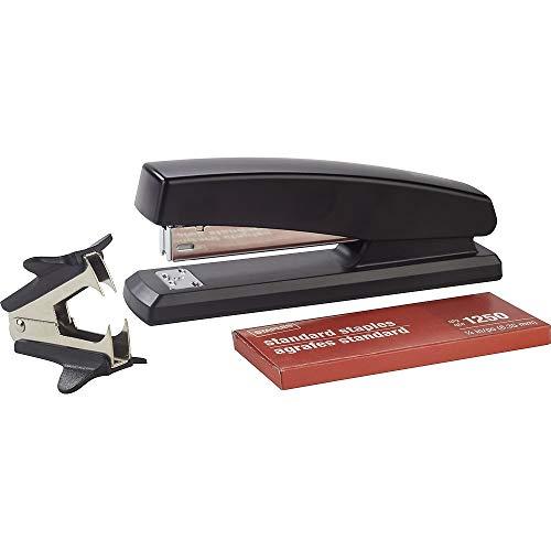 - staples desktop stapler + claw staple remover + 1250 standard staples