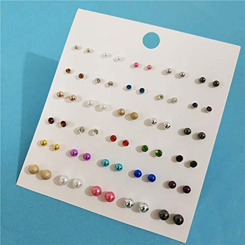 PAPPET Pearl Stud Earrings Simulated Pearl Cute Resin Mermaid Scale Korean Style Studs Earring Set Jewelry Gifts Set For Women /& Girls