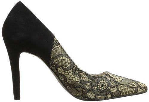 Elle Choiseul 02080 - Zapatos de tacón de cuero para mujer, color beige, talla Beige (Beige)
