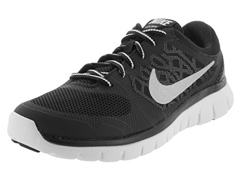 Kids' white NIKE Shoes Running Black Flex Black Metallic Rn Unisex 2015 Gs White Silver Silver aH56HqwSZ