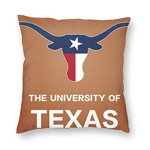 (Bonsai Tree The University of Texas Flag Bull Spring Throw Pillow Covers for Couch Bed Sofa, Cute Pillow Cases Decorative Pillowcase Covers with Zipper)