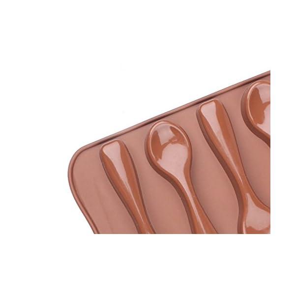 Stonges, 2 pezzi, stampo per dolci al cioccolato a forma di cucchiaio, stampo per gelato, stampo per cottura al forno 6 spesavip
