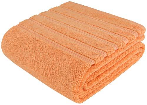 American Soft Linen 100% Ringspun Genuine Cotton Large, Turkish Jumbo Bath Towel 35x70 Premium & Luxury Towels for Bathroom, Maximum Softness & Absorbent Bath Sheet [Worth $34.95] - Malibu Peach