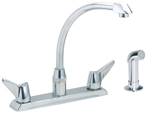 Handle Hi Arc (Elkay LKD2443 Hi-Arc Two-Handle Kitchen Faucet with Matching Side Spray, Chrome Finish)