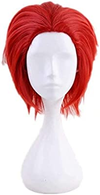 Ani·Lnc Short Red Anime Cosplay Wig Synthetic Hair For Cosplayer