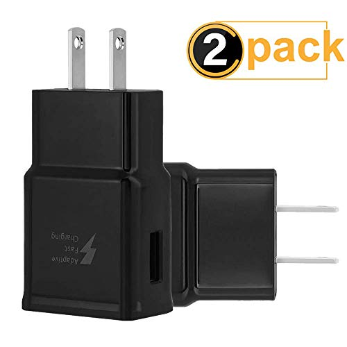 ng Wall Charger Adapter Compatible Samsung Galaxy S6 S7 S8 S9 / Edge/Plus/Active, Note 5,Note 8, Note 9, EP-TA20JBE Quick Charge Charger (Black) ()