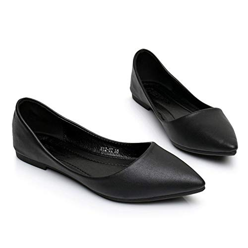 casual office shallow single pointed shoes fashion shoes flat FLYRCX comfort color work Women's candy shoes B shoes shoes IwqB4