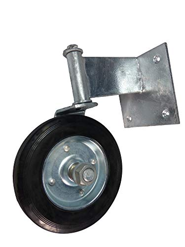 Swivel Wheel for Swinging Wood Gate. Galvanized Steel Guards Against Rusting. Product is Easy to Install (Wood Component)
