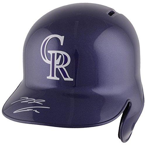 NOLAN ARENADO Colorado Rockies Autographed Replica Batting Helmet ()