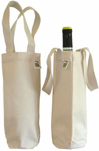 ECOBAGS® Canvas Wine Bag for 750 mL Bottle - 100% Recycled Cotton (Wine Bag Canvas compare prices)