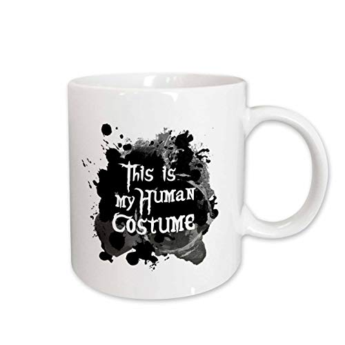 3dRose InspirationzStore - Occasions - This is my Human Costume - humorous funny Halloween disguise humor - 15oz Two-Tone Blue Mug (mug_317320_11)]()