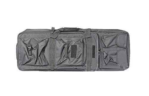 A&N Airsoft Gun Rifle Large Portable Carrying Bag Pack Storage Case 85cm MOLLE w/Accessory Pouches Compartments by A&N (Image #1)