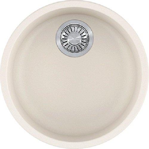 - Franke RBG110VAN Rotondo Granite Undermount Round Single Bowl Kitchen Sink, Vanilla