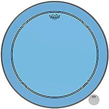 "Remo P3-1324-CT-BU Powerstroke P3 Colortone Blue Bass Drumhead, 24"""