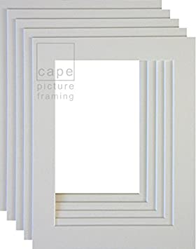 to fit A4 Pack of 5 Picture Mounts Bright White Overall Size A3