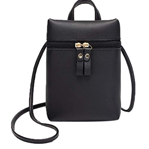 One Messenger Women Alixyz Mobile Black Bag Candy Bag Purse Backpack Phone Black Color Small Shoulder qXdtdw