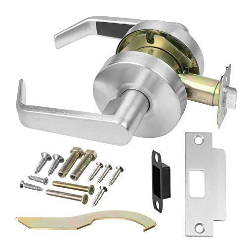 Commercial Cylindrical Lever Heavy Duty Non-Handed Grade 2 Door Handle (Passage, Satin Chrome) by Lawrence Hardware LH5031L