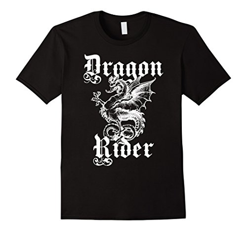 Tavern Man Costumes (Mens Renaissance and Fantasy Dragon Shirt Large Black)
