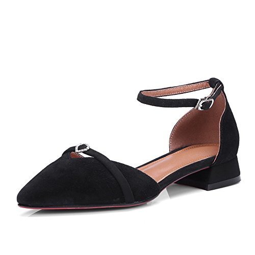 Noir Sandales Balamasa Femme Compensées Asl05081 nCxzAqB