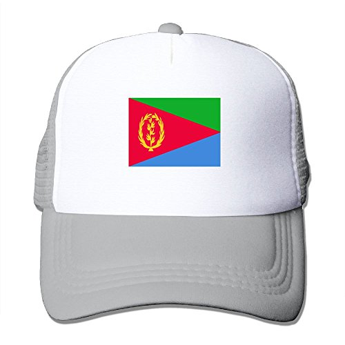 c7223ae2bb68f Amazon.com  Jinyimingpi Flag Of Eritrea Adult Grid Baseball Caps Adjustable  sunshade Hat Mesh Trucker Hat Snapback Cap  Clothing