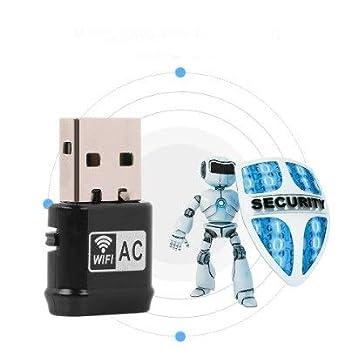 Huakii Adaptador USB WiFi, Tarjeta USB de Red inalámbrica ...