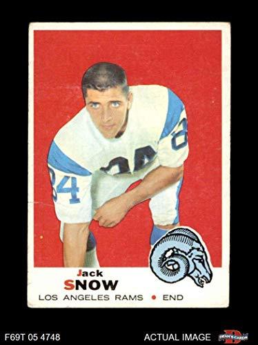1969 Topps # 256 Jack Snow Los Angeles Rams (Football Card) Dean's Cards 2 - GOOD Rams