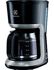 Electrolux Kaffebryggare Modell EKF3300, Kaffemaskin som är lätt att rengöra och brygger aromrikt kaffe i en stor glaskaraff för 12 koppar, Automatisk Avstängning, 1100W, Svart