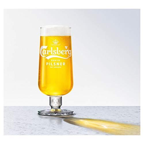 TUFF LUV Original Pint Glass/Chalice Glass/Glasses/Barware CE 20oz / 568ml for Carlsberg Danish Pilsner