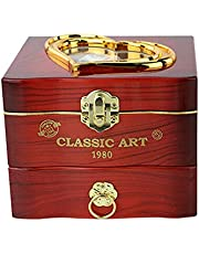 Wooden Music Box, Rotating Ballerina Dancing Girl Jewelry Storage Box, Craft Engraved Wooden Music Box Gift for Adult Kids Home Wedding Decoration