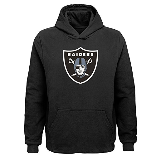 - NFL Oakland Raiders Toddler Primary Logo Sueded Classic Hoodie Black, 4T