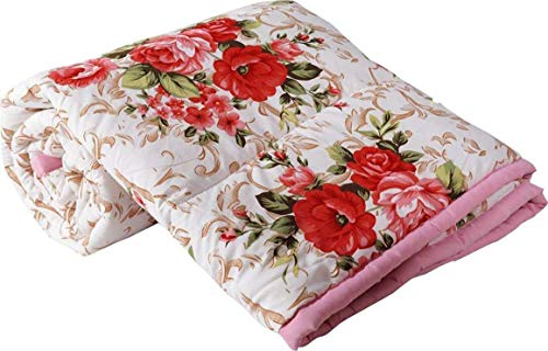 Mahadev Handicrafts Microfibre Reversible Double Bed Comforter Dohar (King Size, Multicolour)