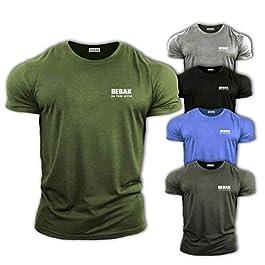 GYM CLOTHES FOR MEN Gym T Shirt Bodybuilding T Shirts Gym Clothes – BEBAK Workout Top Training Tops Arnold Schwarzenegger inspired design T Shirt MMA