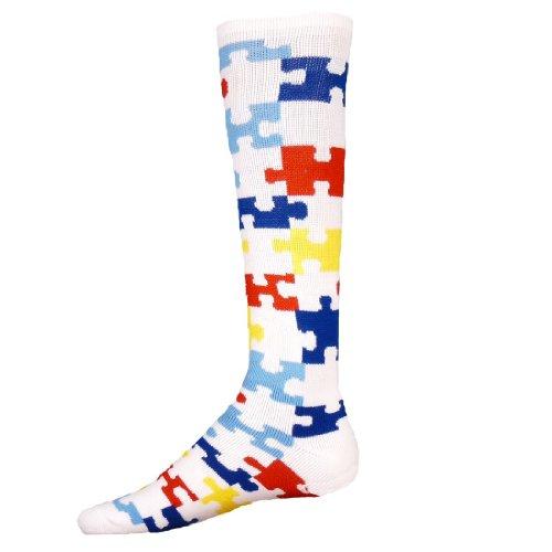 Price comparison product image Red Lion Puzzle Autism Awareness Socks ( White / Multi - Medium )