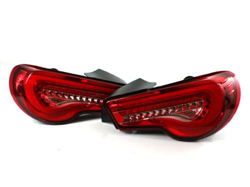 2013+ Subaru BRZ ZC6 / Scion FR-S Valenti SEQUENTIAL LED Taillights - Red/Clear