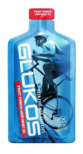Glukos, Glucose Energy Gel, Fruit Punch 2.0 oz, 12 pack