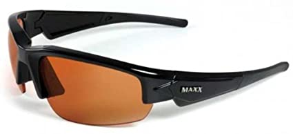 b2b495aed8a Image Unavailable. Image not available for. Color  Maxx Sunglasses Dynasty  2.0 Black Frame Amber HD Lens