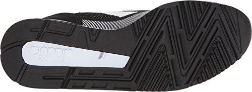 Diadora V7000 Weave Herren Beige Textil Athletic Lace Up Laufschuhe Schwarz / Weiß / Schwarz