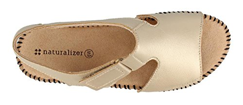 Scout Naturalizer Sandals Low Leather Heel Women's Gold Leather rqagw5q