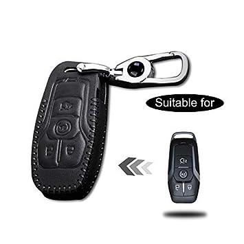 Funda Cuero para Llave Ford Mustang 4 Botones Llave Control ...