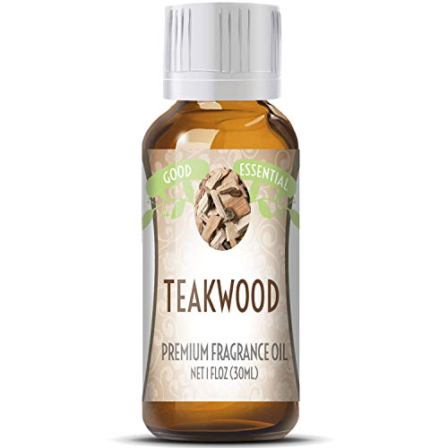 Teakwood Scented Oil by Good Essential (Huge 1oz Bottle - Premium Grade Fragrance Oil) - Perfect for Aromatherapy, Soaps, Candles, Slime, Lotions, and More!