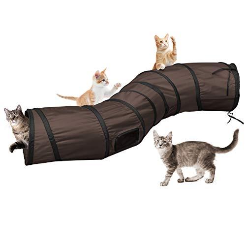 Katzentunnel Katzenspielzeug S Tunnel Pet Cat Play Tunnel Tube zusammenklappbar Kätzchen Spielzeug Katze Tunnel…